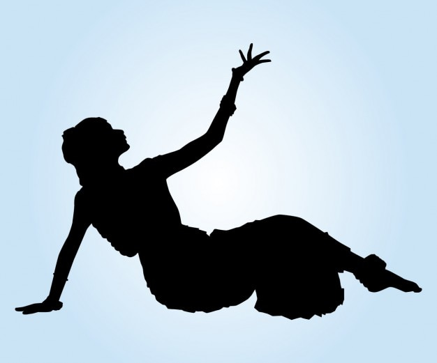 Indian Dancer On the Floor Silhouette