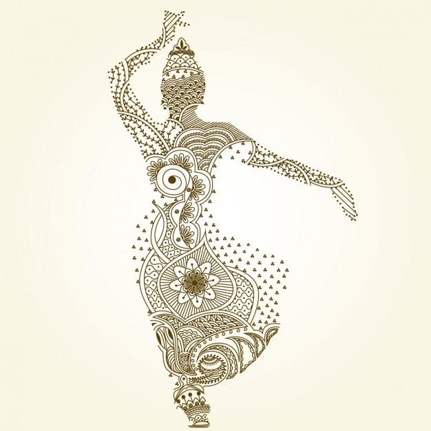 indian dancing pose vector free download