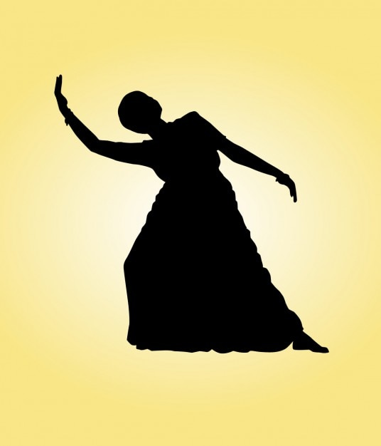 Indian Dancing Silhouette Vector | Free Download