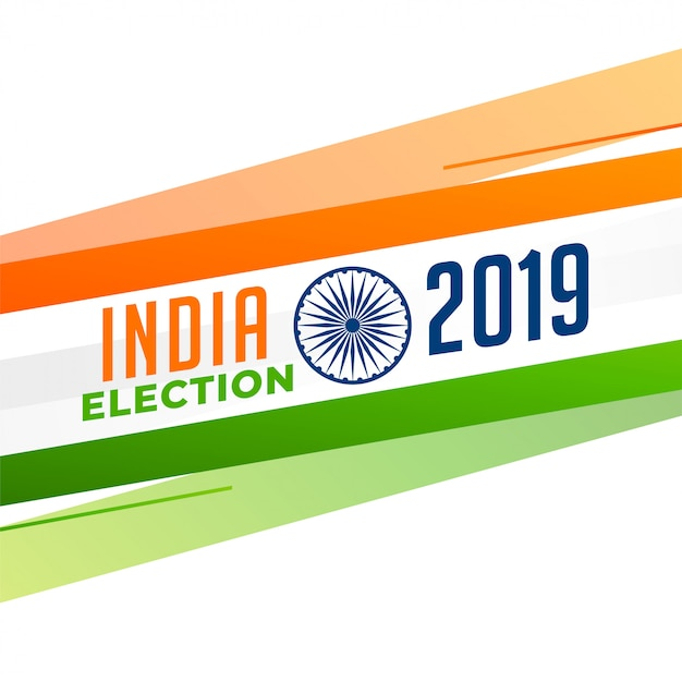 Indian election 2019 design Free Vector