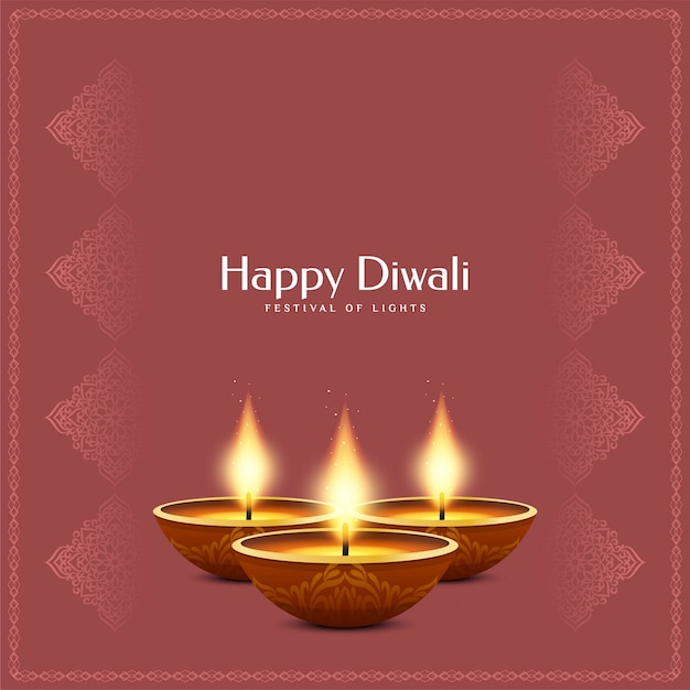 Indian festival happy diwali background Free Vector