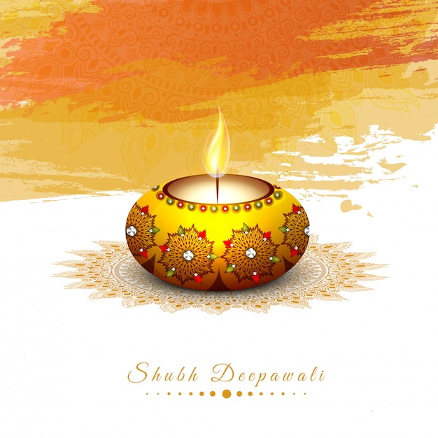 Indian festival, happy diwali concept. Premium Vector