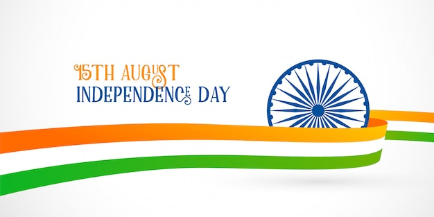 Indian flag background for independence day Free Vector