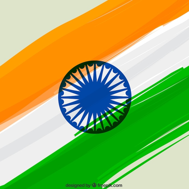 indian flag background vector free download