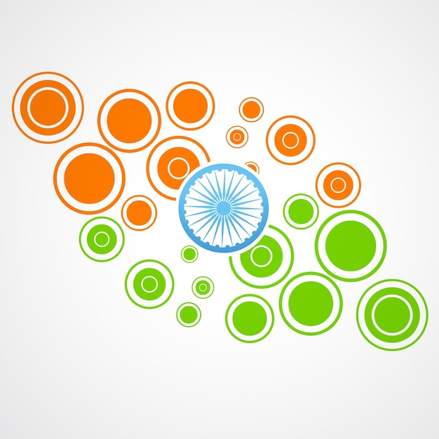 Indian flag design made of circles