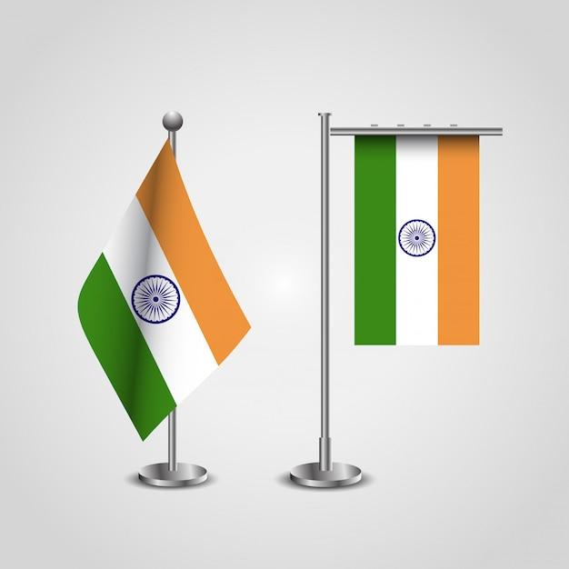 Indian flag design with a creative design vector Free Vector