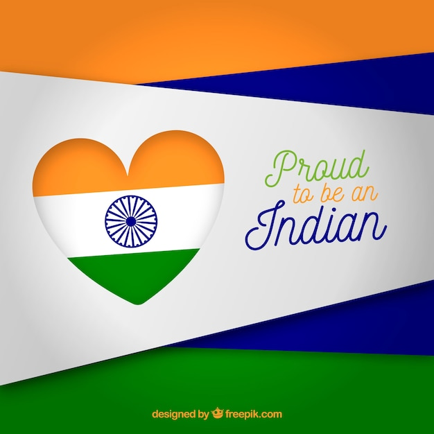Indian flag heart background