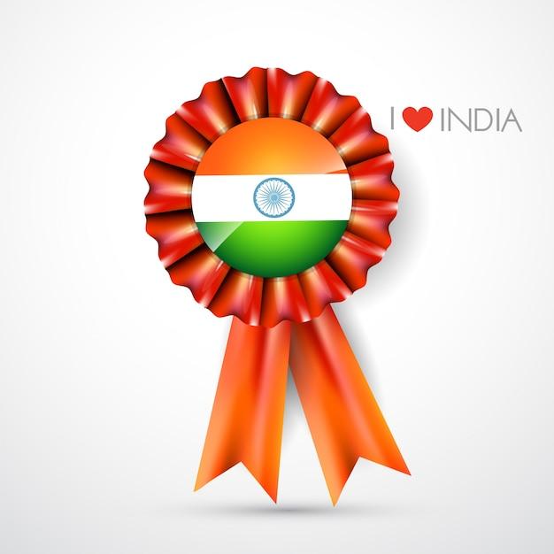 Indian flag label design