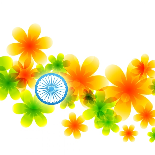 Indian flag made of flowers