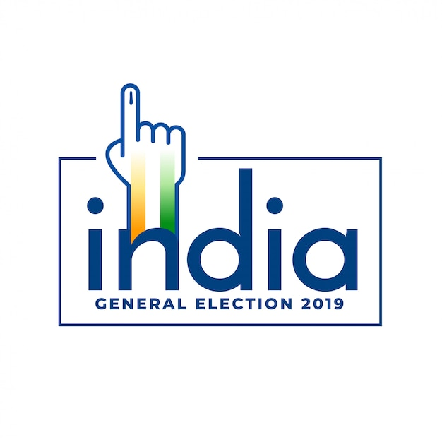 Indian general election 2019 voting concept design Free Vector