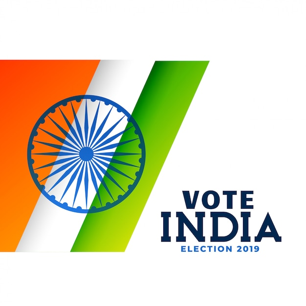 Indian general election poster design Free Vector
