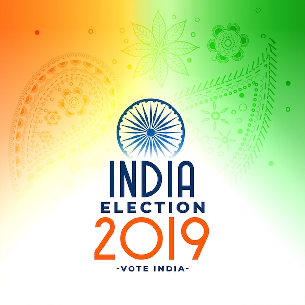 Indian general loksabha election concept design Free Vector