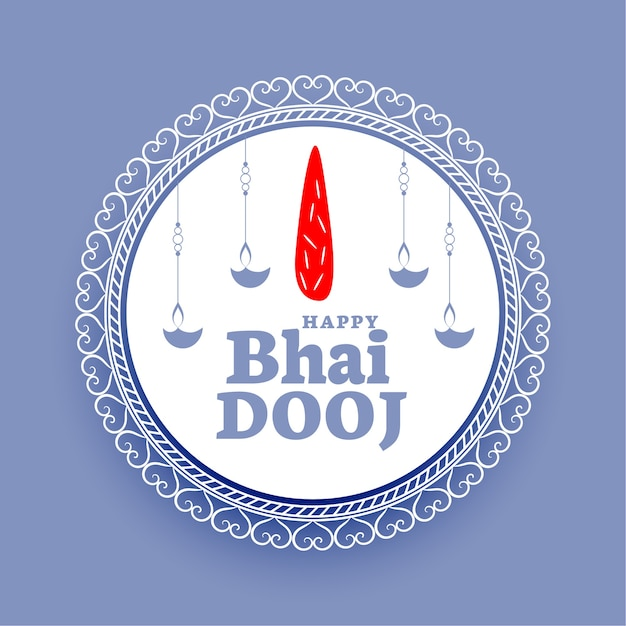 Indian happy bhaidooj traditional blue background Free Vector