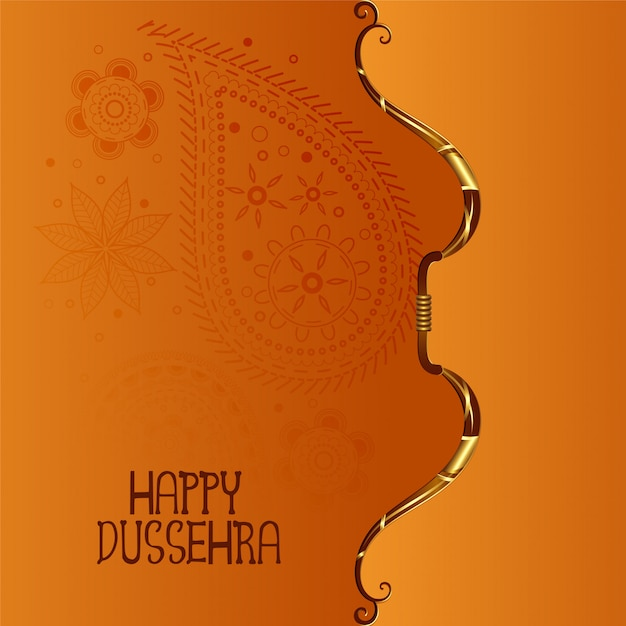 Indian happy dussehra festival Free Vector