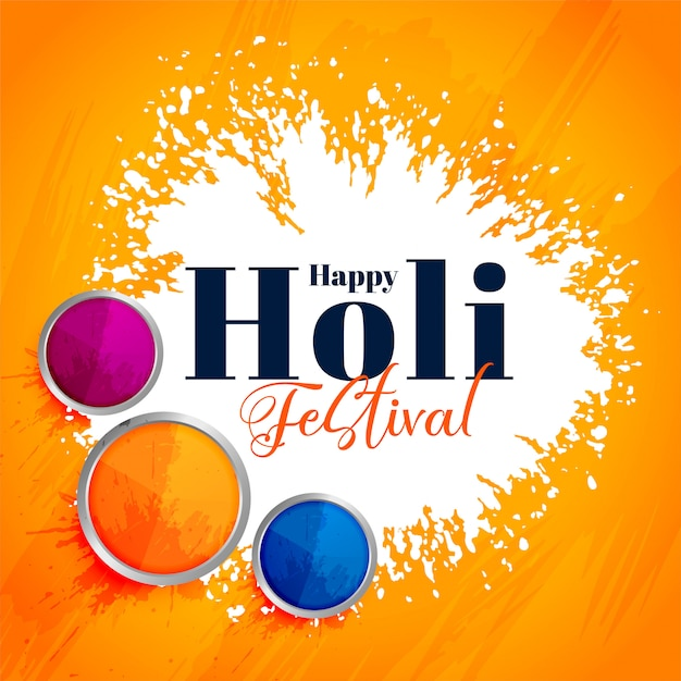 Indian happy holi festival attractive background Free Vector