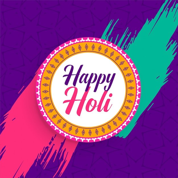 Indian happy holi festival background Free Vector