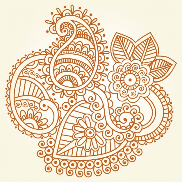 Mehndi Hand Vector Free Download : Indian henna ornament vector free download