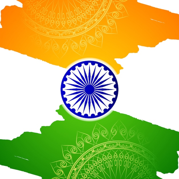 Indian independence day abstract flag design