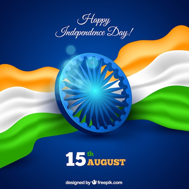 Indian Independence Day Background In Realistic Style Vector Free