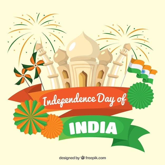 Indian Independence Day Background Vector Free Download