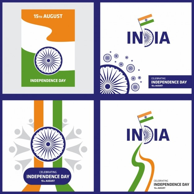 Indian independence day backgrounds collection