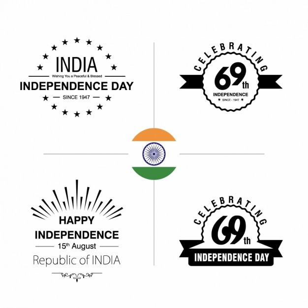 Indian independence day badges