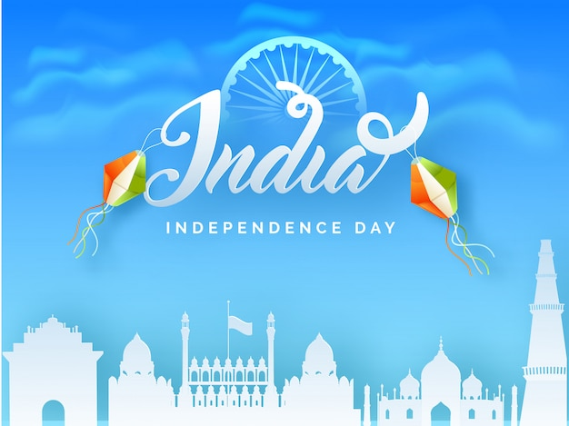 Indian independence day celebration Premium Vector