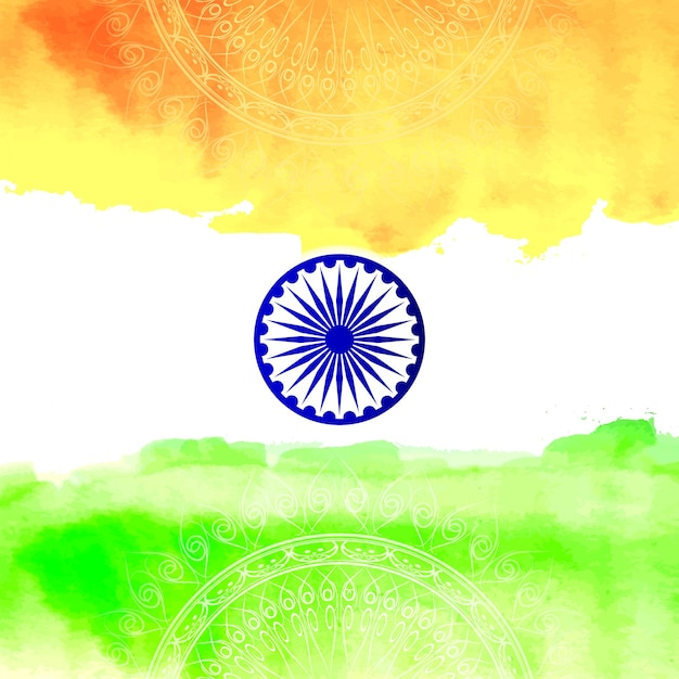 Indian independence day flag design