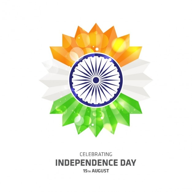 Indian Independence Day Flower Vector Free Download