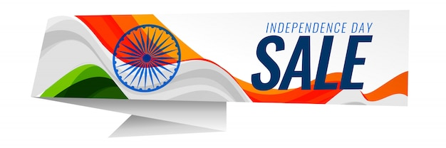 Indian independence day sale background Free Vector