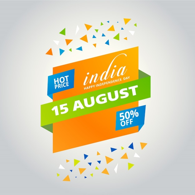 Indian independence day sales design Free Vector