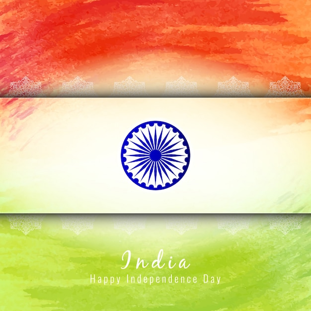 Indian independence day tricolor design