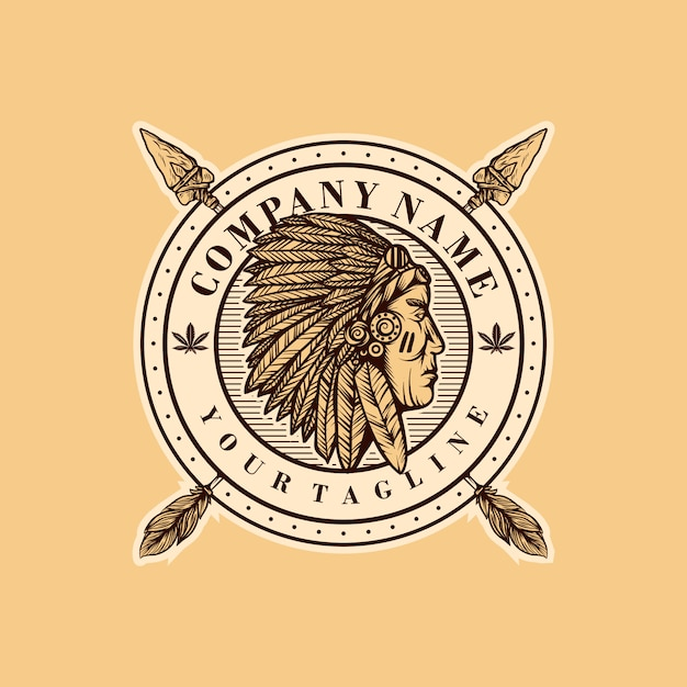 Indian logo template Premium Vector