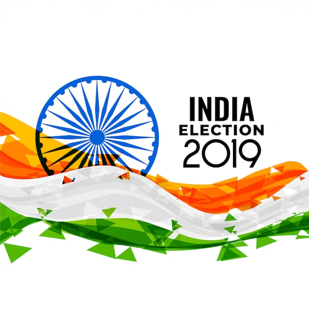 Indian loksabha election design Free Vector