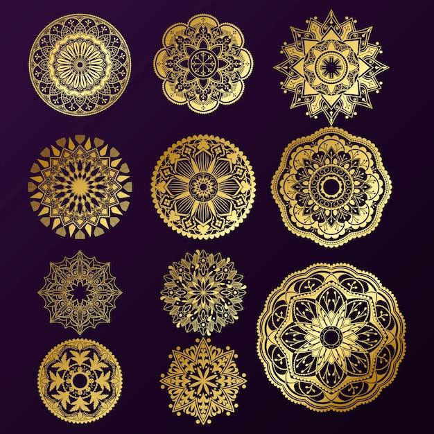 Indian mandala design Free Vector