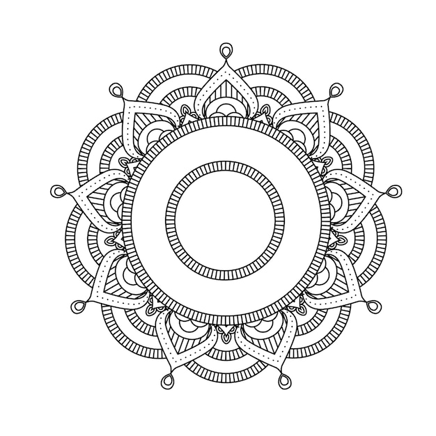 Индийская мандала - круглый марокканский узор в цветочном стиле Premium векторы