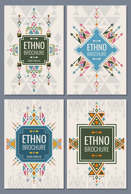 Indian and mexican style brochure Premium Vector
