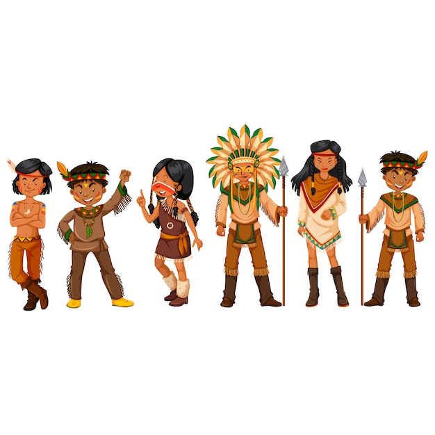 Indian people collection Free Vector