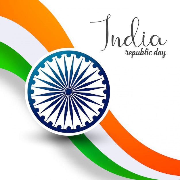 Indian republic day 26th january background Free Vector