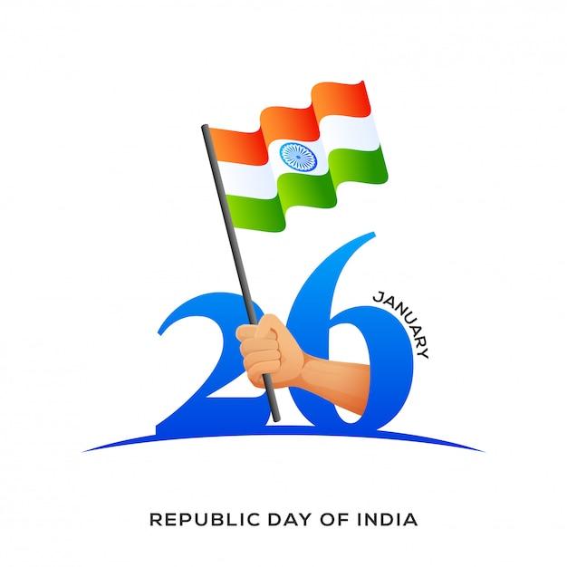 Indian republic day background. Premium Vector