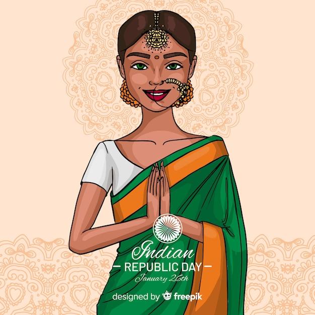 Indian republic day background Premium Vector