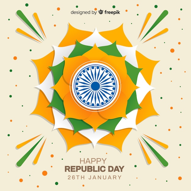 Indian republic day background Free Vector