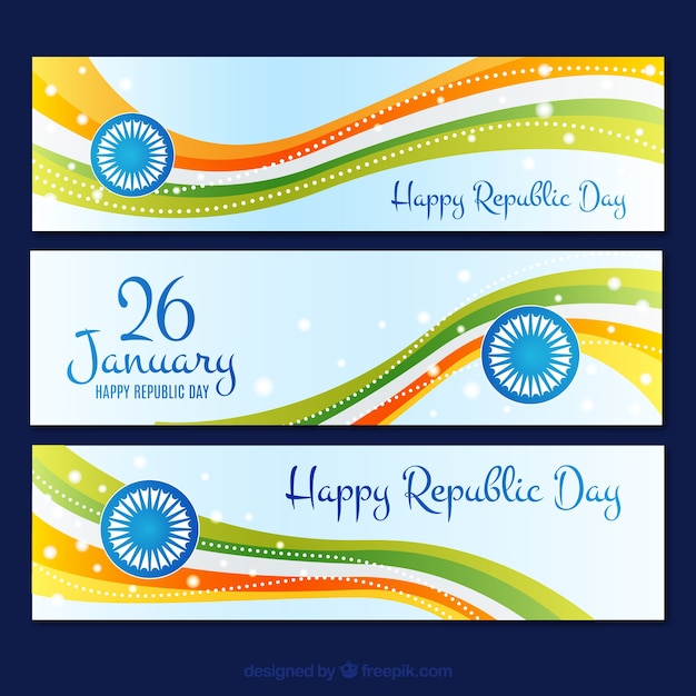Indian Republic Day Banners Collection