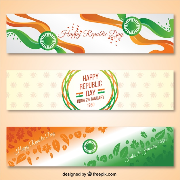 Indian Republic Day Banners Vector Free Download