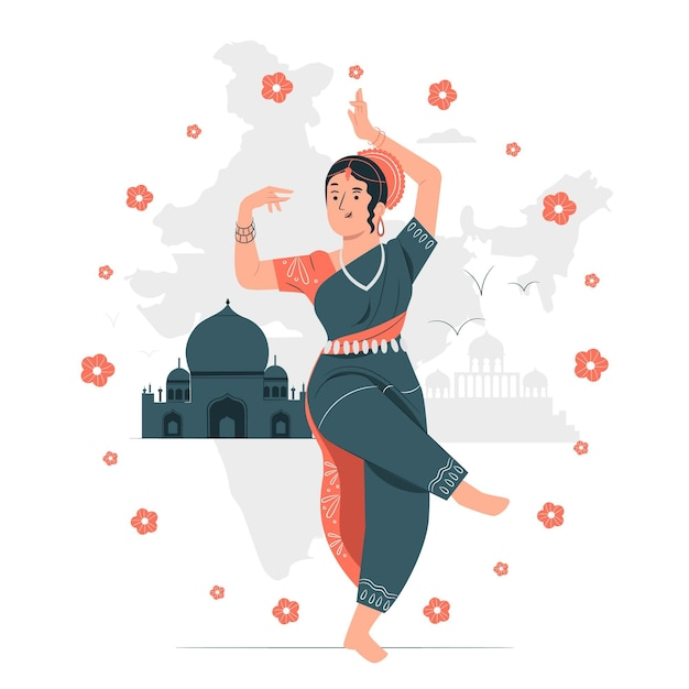 Indian republic dayconcept illustration Free Vector