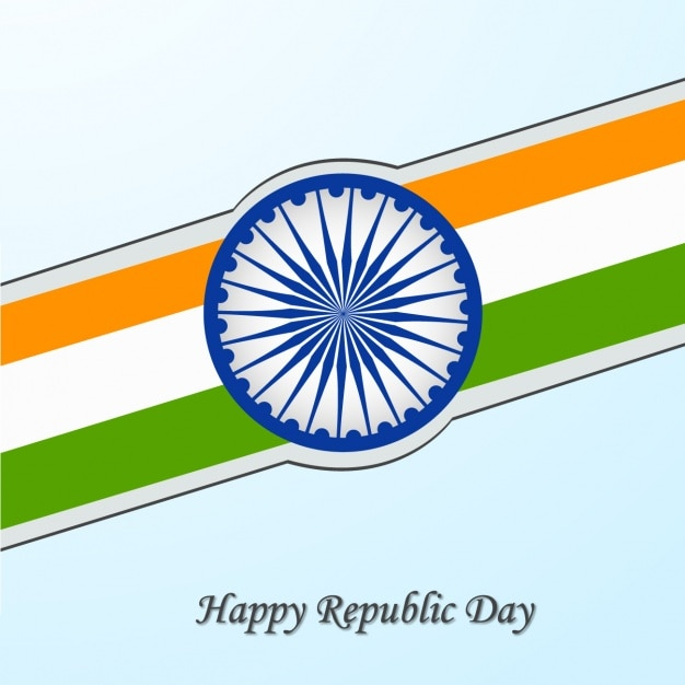 Indian republic day design Free Vector