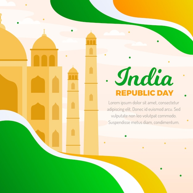 Indian republic day in flat design Free Vector