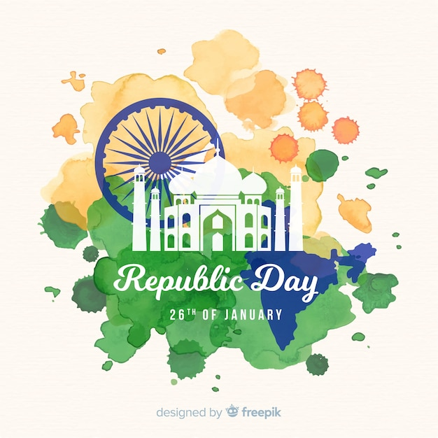 Indian republic day Free Vector