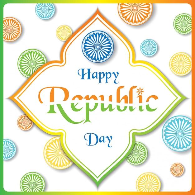 Indian republic day Premium Vector