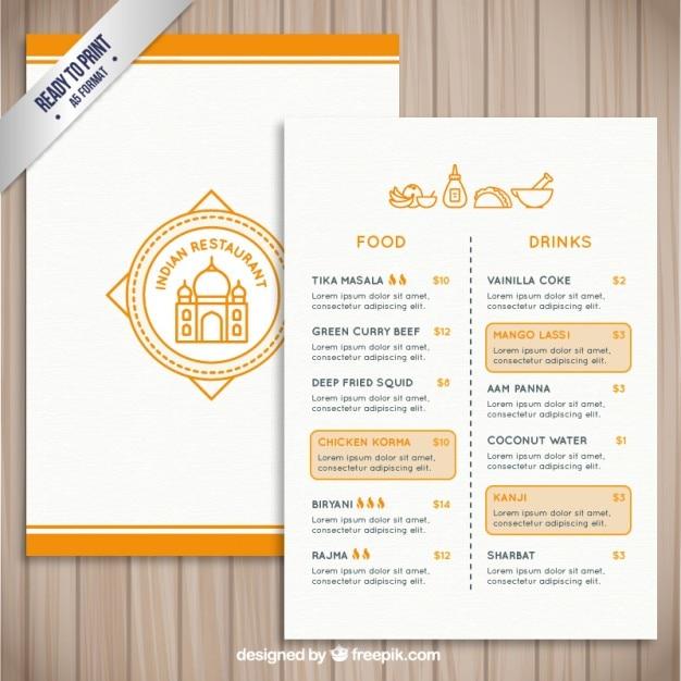Indian restaurant template Vector | Free Download